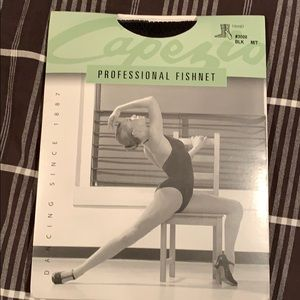 Capezio Fishnet tights size medium/tall